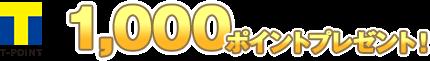 1,000ptプレゼント