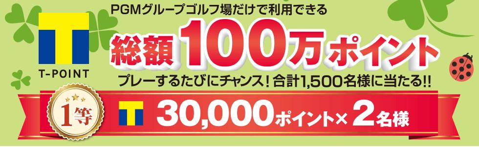 Tポイント総額100万ポイントが合計1,500名様に当たるスピードくじ開催中!!