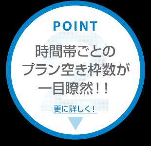 【ポイント2】時間帯ごとのプラン空き枠数が一目瞭然!
